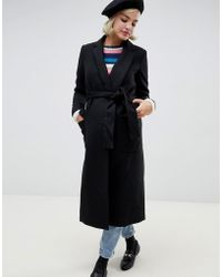 Glamorous - Belted Longline Trench Coat - Lyst