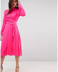 ASOS - Cut Out Midi Dress - Lyst
