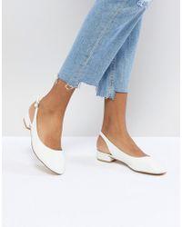 Faith - Amelia White Sling Back Ballet Shoes - Lyst
