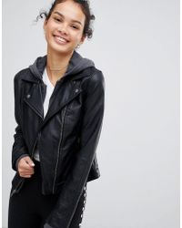 Hollister - Faux Leather Jacket - Lyst