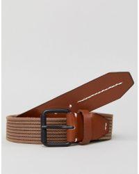 Jack & Jones - Taupe Woven Belt - Lyst