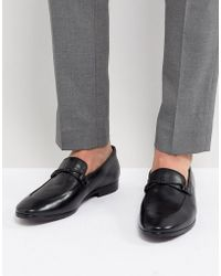 Dune - Loafers In Black Leather - Lyst