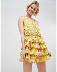 UNIQUE21 - Unique 21 Yellow Floral Dress - Lyst