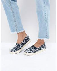 TOMS - Avalon Navy Slip On Shoes - Lyst