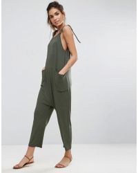 ASOS | Jersey Minimal Jumpsuit With Ties | Lyst