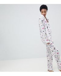ASOS - Asos Design Tall Space Trouser Set In 100% Modal - Lyst