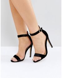 Truffle Collection - Round Buckle Skinny Sandal - Lyst