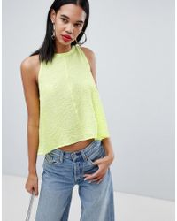 Weekday - Floaty Tank Top In Neon - Lyst