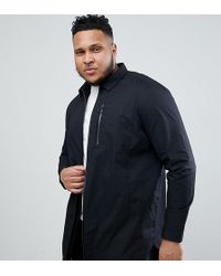 3bf40ba82d8 Lyst - Asos Tall Denim Overshirt With Zips In Mid Wash in Black for Men