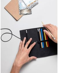 ASOS - Asos Pencil Case In Gray Canvas - Lyst
