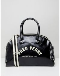 Fred Perry - Classic Grip Weekend Bag In Black - Lyst