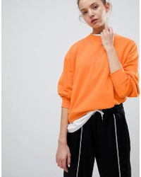 Weekday - Huge Cropped Sweatshirt - Lyst