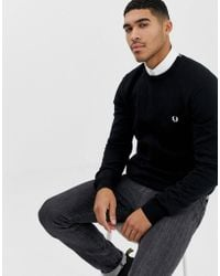 Fred Perry - Pull ras de cou - Noir - Lyst