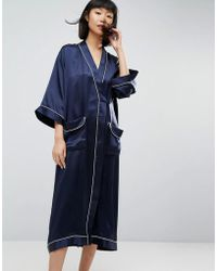 ASOS - 100% Silk Dressing Gown - Lyst