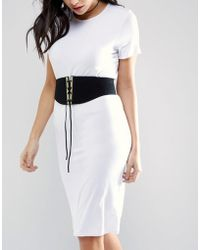 Lovestrength - Roxy Lace Up Suede Corset Belt - Lyst