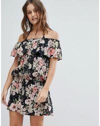 Billabong - Off-shoulder Beach Dress - Lyst