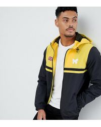 Good For Nothing - Windbreaker Jacket In Black With Contrasting Yellow Panel Exclusive To Asos - Lyst