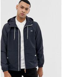 Esprit - Lightweight Hooded Jacket In Navy Colour Block - Lyst
