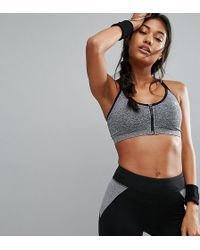 ONLY - Play Zip Front Seamless Sports Bra - Lyst