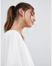 ALDO - Cuwien Oversized Star Hoop Earrings - Lyst