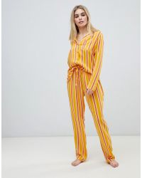 ASOS - Mix & Match Varied Stripe Trousers In 100% Woven Modal - Lyst