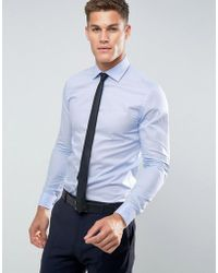 Reiss | Slim Smart Shirt With Double Cuff | Lyst
