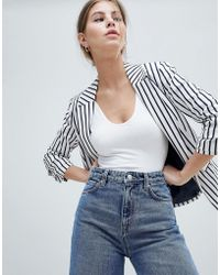 Miss Selfridge - Tailored Stripe Blazer - Lyst
