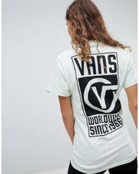 Vans - Worldwide Back Print T-shirt In Mint - Lyst