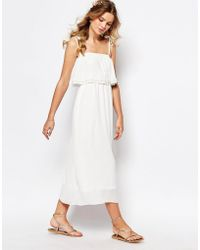 Darccy - Cami Layered Maxi Dress With Embellished Neckline - Lyst