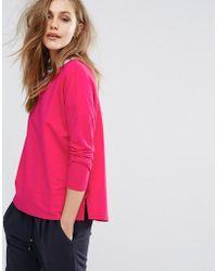 BOSS Orange - Fuchsia Sweatshirt - Lyst