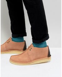 Clarks - Desert Trek Suede Shoes In Pink - Lyst