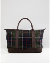 Barbour - Elgin Classic Tartan Holdall In Green - Lyst