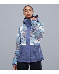 Roxy - Jetty Block Ski Jacket In Multi Print - Lyst