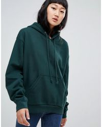 Weekday - Ailin Hoodie In Dark Green - Lyst