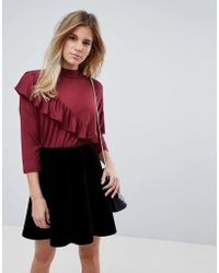 B.Young - Ruffle Panel Blouse - Lyst