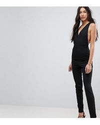 Vesper - Open Back Tailored Jumpsuit - Lyst