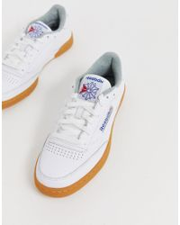 1e1095ff6d9 Reebok Club Workout Gum Sole Trainers In White Bs6205 in White for ...