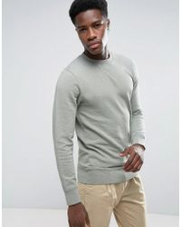 Esprit - Basic Crew Neck Sweatshirt - Lyst
