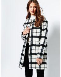 Ichi - Grid Print Jacket - Lyst