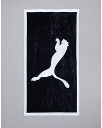 PUMA - Football Towel In Black 053377-01 - Lyst