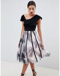 Coast - Maude Printed Organza Volume Dress - Lyst
