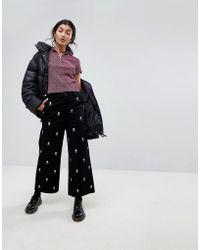 Lazy Oaf | Wide Leg Jeans With All Over Skull Embroidery | Lyst