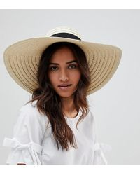 South Beach - Oversized Bow Straw Hat - Lyst