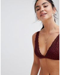 Monki - Broderie Lace Triangle Bra - Lyst
