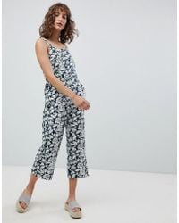 Suncoo - Printed Broderie Jumpsuit - Lyst