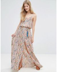 Pepe Jeans - Ronette Printed Maxi Dress - Lyst
