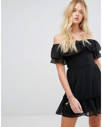 Hollister - Boho Off The Shoulder Dress - Lyst