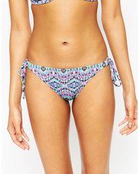 Miss Mandalay - Bohemia Tie Side Bikini Bottoms - Lyst