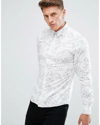 Solid - Shirt In All Over Floral Print - Lyst