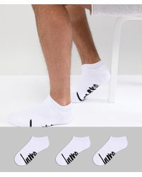 Hype - 3 Pack Ankle Socks In White - Lyst